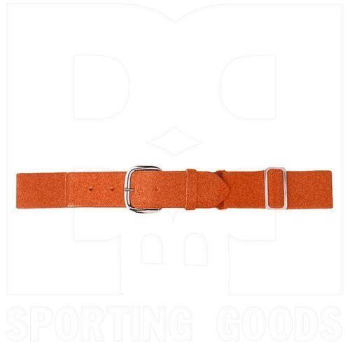 6001.029 Augusta Adult Elastic Baseball Belt w/ Vinyl Tabs & Slider Orange