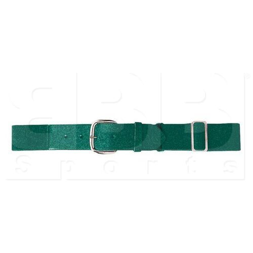 6001.035 Augusta Adult Elastic Baseball Belt w/ Vinyl Tabs & Slider Dark Green