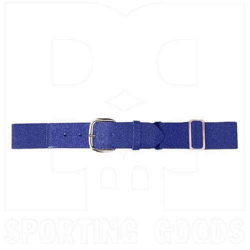 6001.050 Augusta Adult Elastic Baseball Belt w/ Vinyl Tabs & Slider Purple
