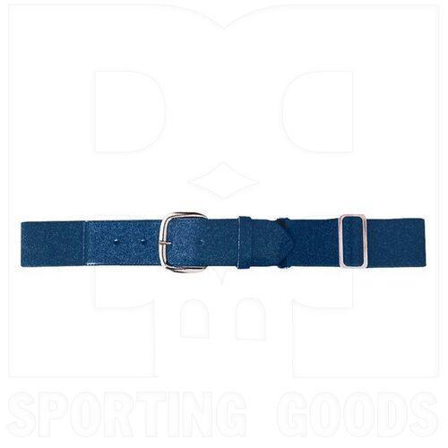 6001.065 Augusta Adult Elastic Baseball Belt w/ Vinyl Tabs & Slider Navy