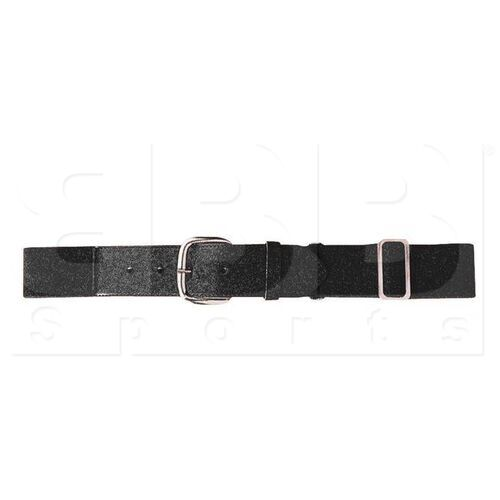 6001.080 Augusta Adult Elastic Baseball Belt w/ Vinyl Tabs & Slider Black