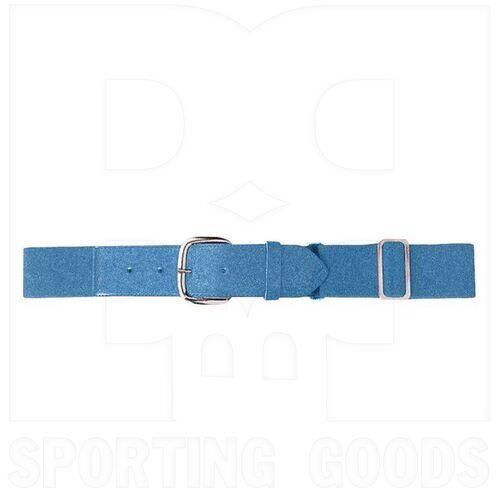 6001.089 Augusta Adult Elastic Baseball Belt w/ Vinyl Tabs & Slider Columbia Blue