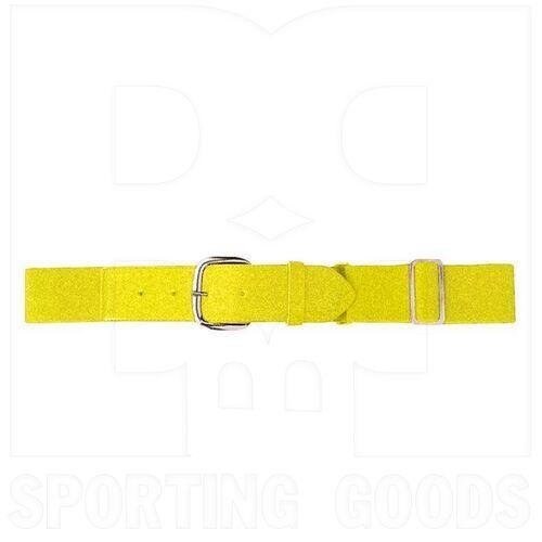 6001.810 Augusta Adult Elastic Baseball Belt w/ Vinyl Tabs & Slider Power Yellow
