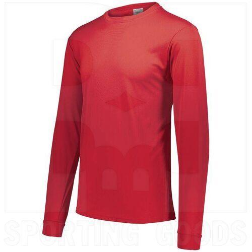788.040.XL Augusta Adult Wicking Microfiber Long Sleeve Shirt Red