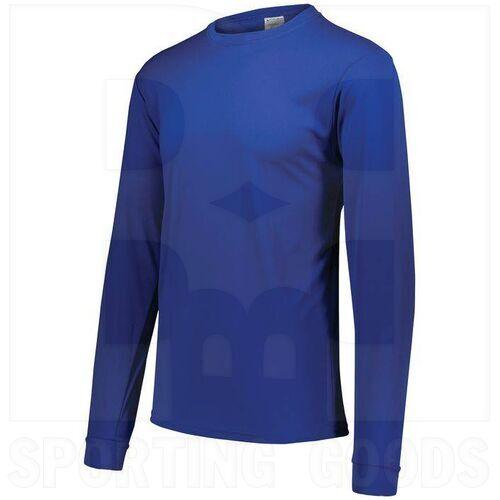 788.060.S Augusta Adult Wicking Microfiber Long Sleeve Shirt Royal