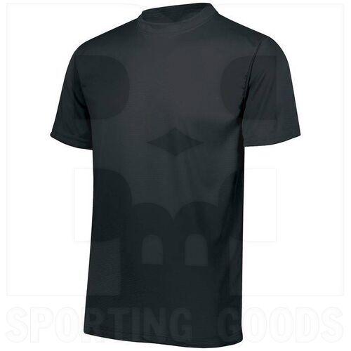 791.080.L Augusta Youth Wicking MIcrofiber T-Shirt w/ Self-Fabric Collar Black