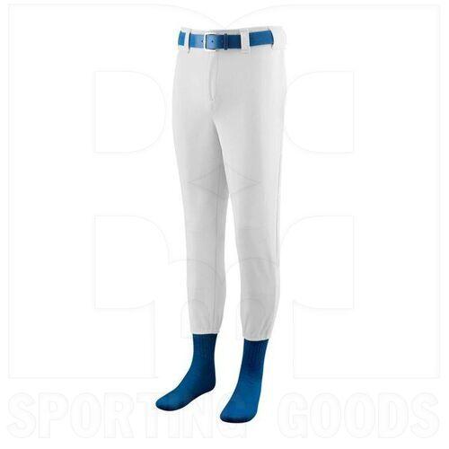801.005.S Augusta Softball/Baseball Pant with Elastic Cuffs White