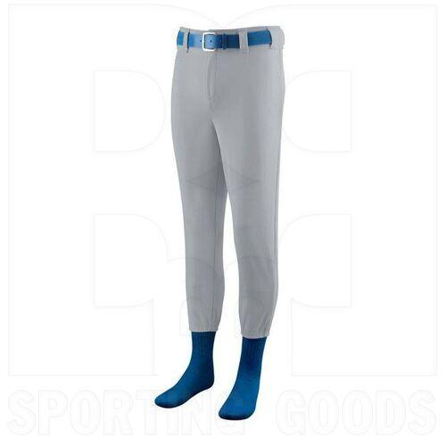 801.016.L Augusta Softball/Baseball Pant with Elastic Cuffs Silver Grey