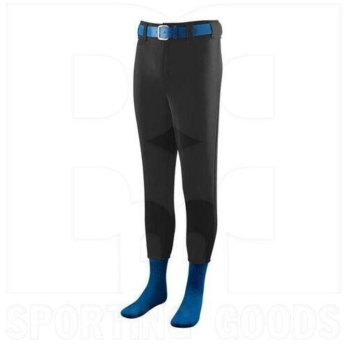 801.080.S Augusta Softball/Baseball Pant with Elastic Cuffs Black