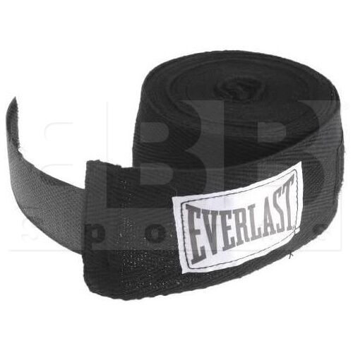 "4456BK Everlast Boxing Hand Wraps Black 180"""