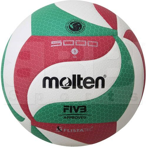 V5M5000 Molten FIVB 5000 Volleyball Size 5 Red/Green/White
