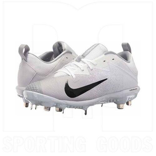 852696-102-7 Nike Vapor Ultrafly Pro Low Metal Baseball Cleats White/Black/Wolf Grey