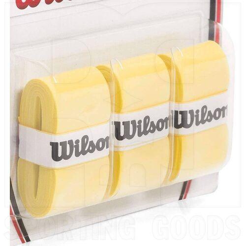 Z4014-YE Wilson Pro Tennis Racket Overgrip Set of 3 Yellow