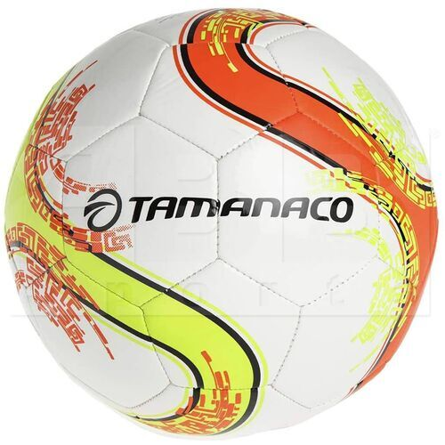 TF3CAI-9196 Tamanaco Caiman Futsal Soccer Ball Machine Sewn Size 3 White / Neon Yellow / Neon Orange