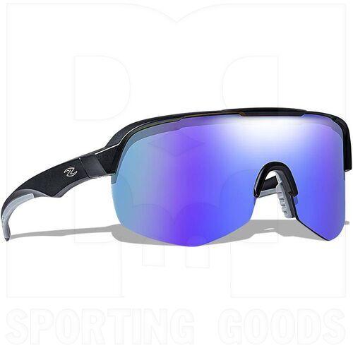 ZZ-EY-UV-GRAND-BK-BL Zol Grand Prix Sunglasses Black w/ Blue Lens