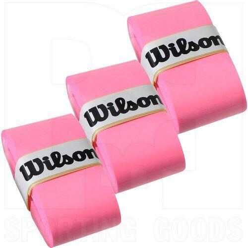 Z4014-PK Wilson Pro Tennis Racket Overgrip Set of 3 Pink