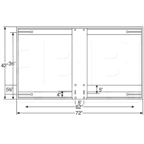 BA472 Bison 42″ x 72″ Unbreakable Short Steel Backboard