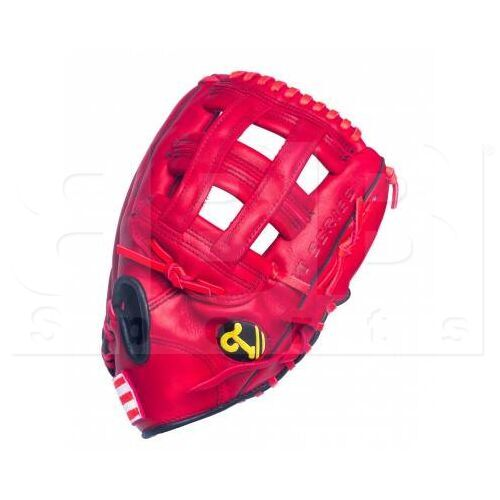 """ST1252-PRS Tamanaco ST-Series Puerto Rico Edition Natural Leather Outfield Glove 12.5"""" Scarlet RHT"""