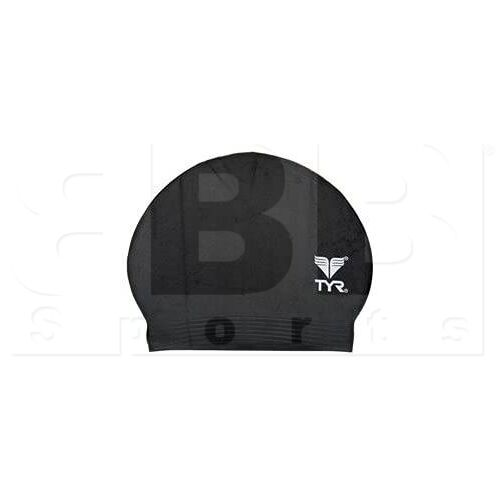 LCL-001 TYR Latex Adult Swim Cap Black