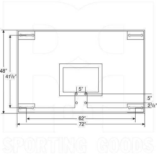 BA48XL Bison 48″ x 72″ Unbreakable Tall Glass Backboard