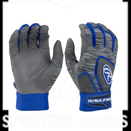 5150GBGROM Rawlings Adult 5150® Batting Glove Grey w/ Royal