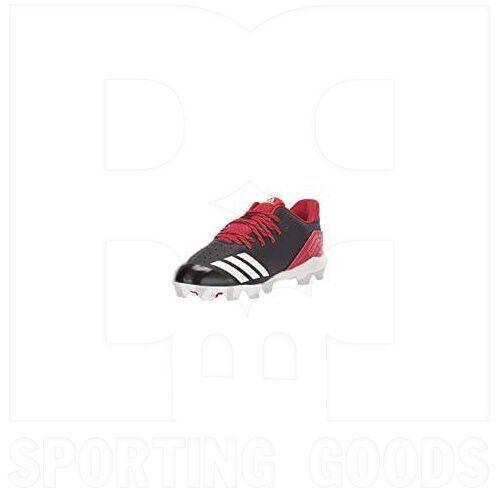 CG5263-10K Adidas Icon Baseball Cleats Black w/ Red 10K