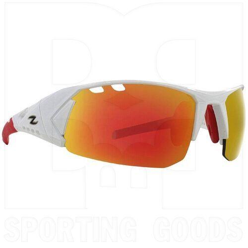 ZZ-EY-UV-SPRINT-WH-RD Zol Sprinter Sport UV Protection Sunglasses White w/ Red Lens