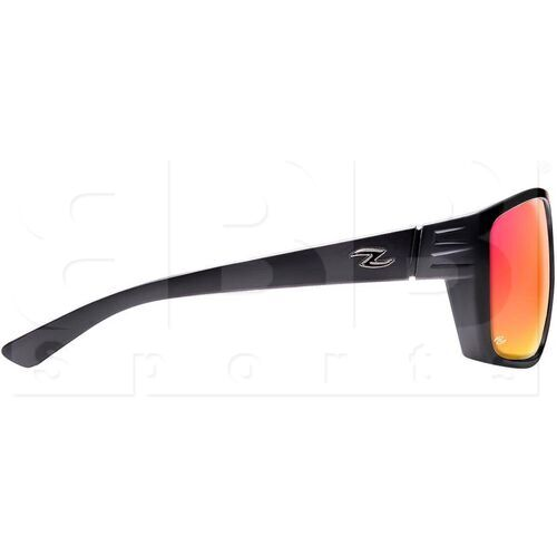 ZZ-EY-PL-EXP-BK-RD Zol Exposed Polarized Sport UV Protection Sunglasses Black w/ Red Lens