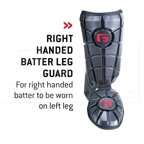 YLG0102010L G-Form Youth Pro Batter's Leg Guard Black