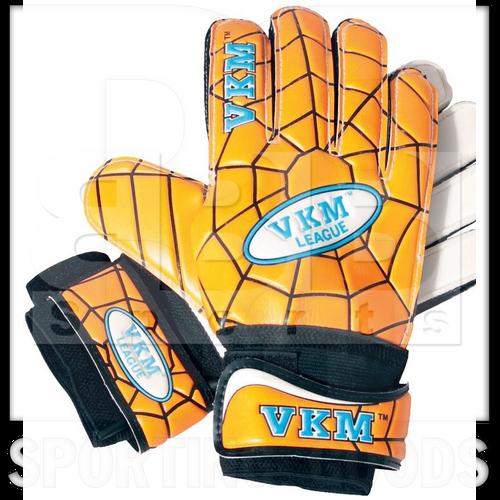 GK338 VKM Goalkeeper Gloves German Latex With Spider Web Design Gold/Black/White