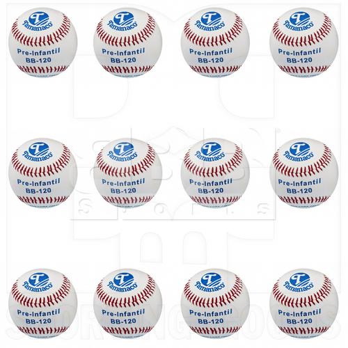"BB-120 Tamanaco 8.5"" Youth Official Little League 4.5 oz Genuine Leather Baseball Dozen"