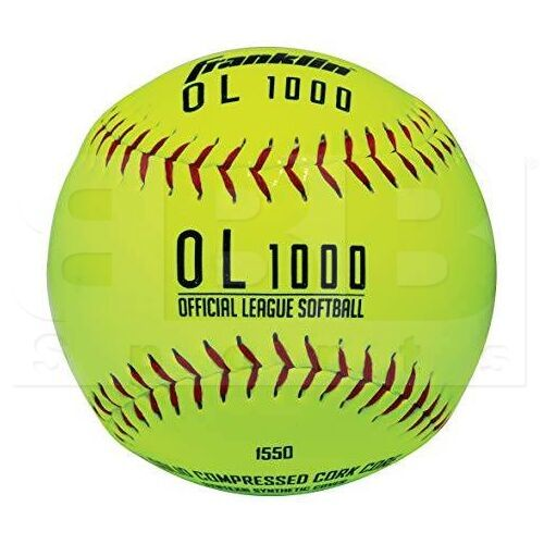 """1550 Franklin OL1000 Official League Softball Syntex Synthetic Cover w/ Solid Cork Core 12"""""""