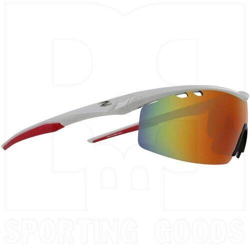 ZZ-EY-UV-ROADY-WH-RD Zol Roady UV Protection Sunglasse White w/Red Lens