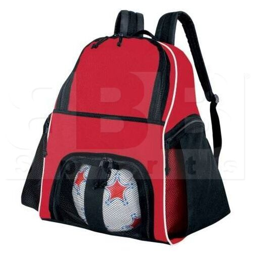 327850.952 High Five Backpack for Basketball/Bowling/Soccer/Volleyball Scarlet/Black/White