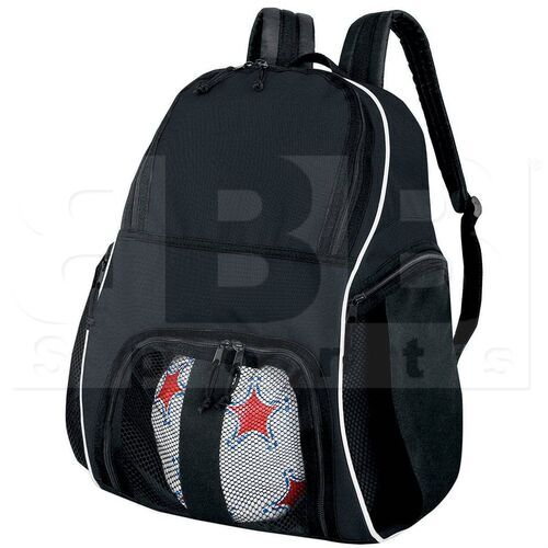 327850.420 High Five Backpack for Basketball/Bowling/Soccer/Volleyball Black/White