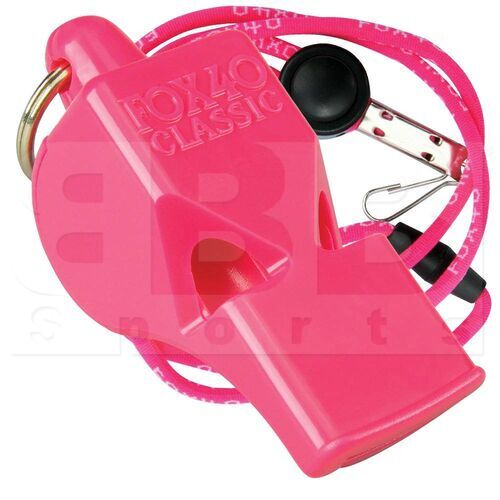 9903-0408 Fox 40 Classic Official Whistle With Breakaway Lanyard Pink
