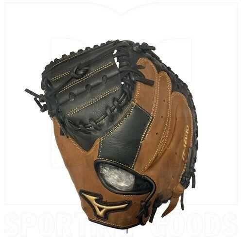 "312634.F980.22.3300 Mizuno Samurai Youth Baseball Catcher's Mitt 33"" Black-Brown LHT"