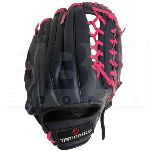 """ST1302-NP Tamanaco ST-Series Natural Leather Outfield Glove 13"""" Navy/Pink RHT"""