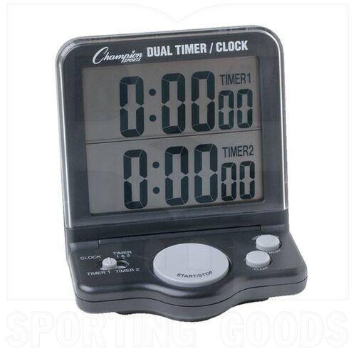 DC100 Champion DC100 Dual Timer LCD Clock w/Jumbo Display