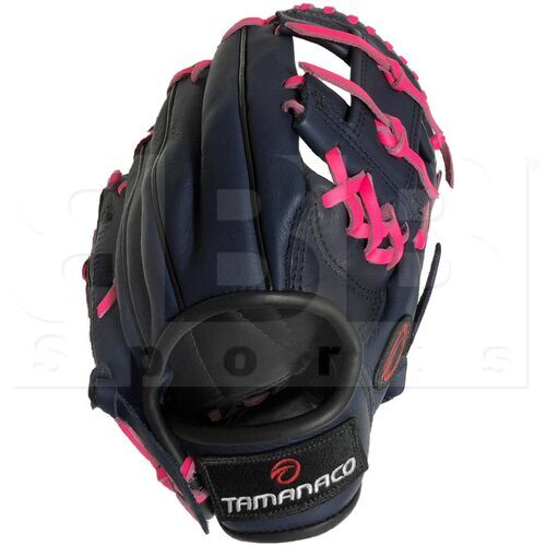 """ST1122-NP Tamanaco ST-Series Natural Leather Infield Glove 11.25"""" Navy/Pink RHT"""