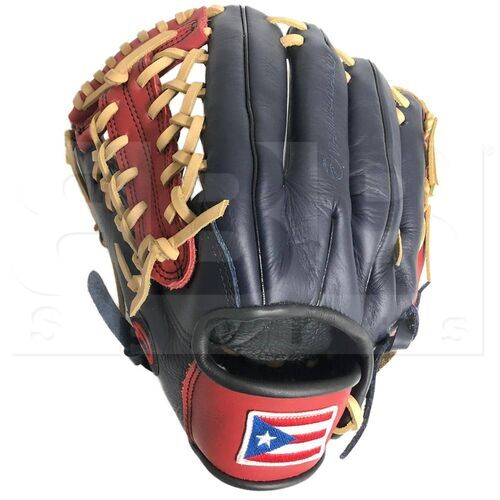 """ST1172-FPRNS-RH Tamanaco ST-Series Puerto Rico Edition Natural Leather Infield/Pitcher Glove 11.75"""" Navy/Scarlet LHT"""