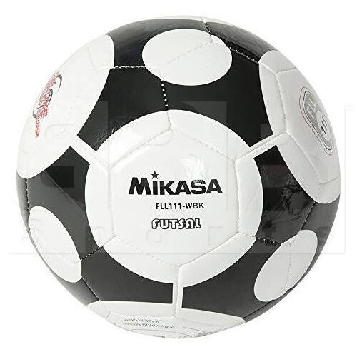 FLL111-WBK Mikasa Futsal Indoor Soccer Ball Size 5 Black/White