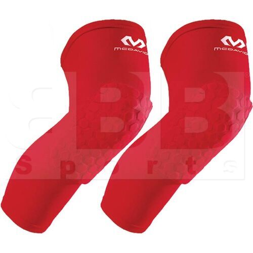 6446R-SC-L McDavid Hexpad Kneepad Sleeve Leg Protector Pair Scarlet