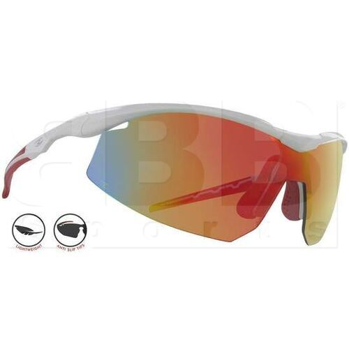 6T-8PAS-2X37 Zol Atak Sunglasses White w/ Red Lens