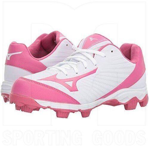 320557.0013.07.0700 Mizuno 9-Spike Advanced Finch Franchise 7 Molded Baseball/Softball Cleats White/Pink
