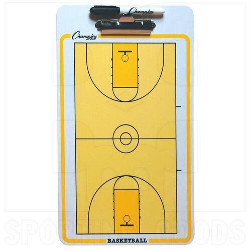 CBBK Champion Basketball Full Court Coaches Clipboard Yellow