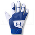 1970-WHRO-M Under Armour Clean Up Batting Gloves White w/ Royal Blue